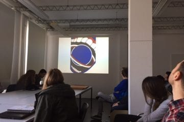 """Erste Eindrücke vom """"Gig Posters""""-Seminar von HBKsaar und PopRat"""
