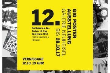 """PopRat Saarland, HBKsaar und Galerie Neuheisel präsentieren zum """"Colors of Pop"""": Gig Poster-Ausstellung von HBK-Studierenden"""
