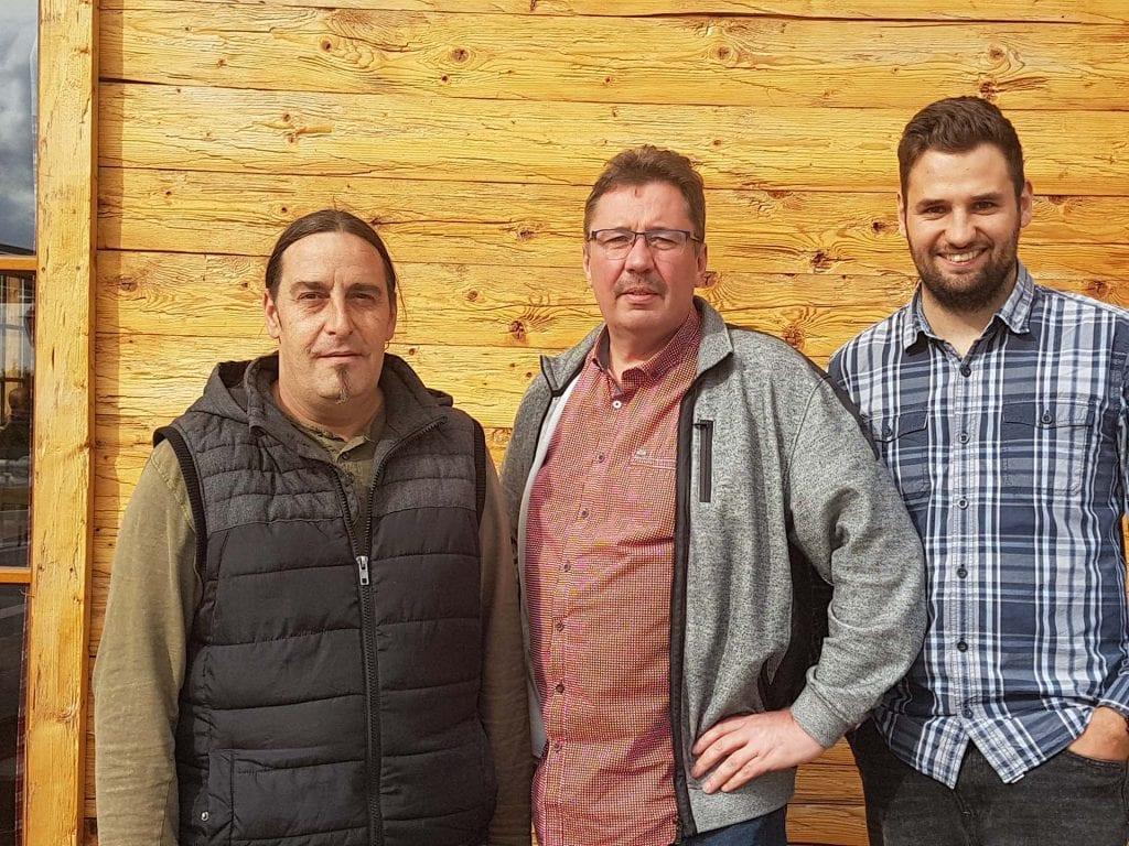 Neu im PopRat: Tom Schwarz, Guido Geiger und Max Geiger von der Alm Event Gastro GmbH