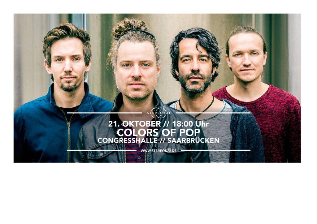 PopRat-Event-Tipp: StereoKai live am 21.10.2017 beim Colors Of Pop in Saarbrücken