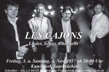 PopRat-Event-Tipp: Les Cajons feiern zehnjähriges Bühnenjubiläum im Kunstwerk/Malzeit, 03. und 04.11.2017