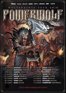 """PopRat-Event-Tipp: Powerwolf – """"Wolfsnächte Tour 2018"""" mit Abschluss in Saarbrücken"""