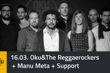 PopRat Event-Tipp: Oku and The Reggaerockers und Manu Meta am 16.03.2018 im Studio 30