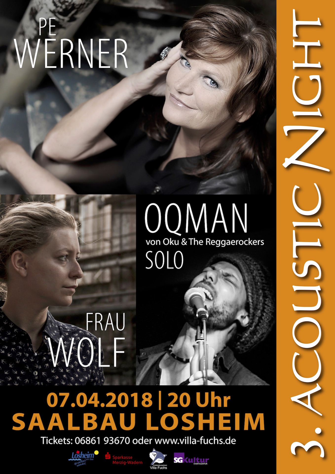 PopRat Event-Tipp: 3. Acoustic Night am 07.04.2018 im Saalbau Losheim