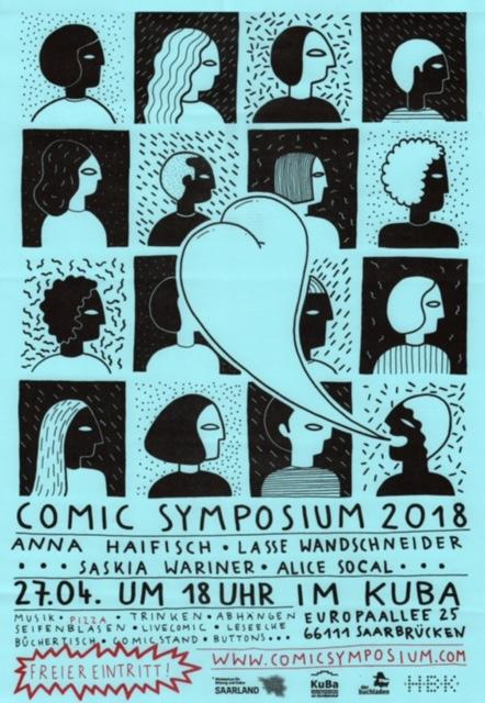 PopRat Event-Tipp: Comic Symposium 2018 am 27.04.2018 im KuBa-Kulturzentrum