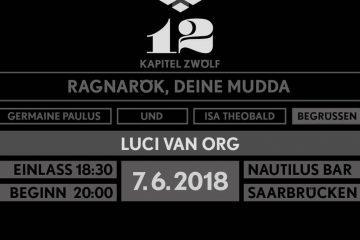 PopRat Event Tipp: 07.06.2018, 18:30 Uhr - Unterdeck mit Luci van Org