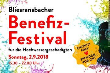 PopRat Event-Tipp: Benefiz-Festival für die Hochwasser-Geschädigten am 02.09.2018