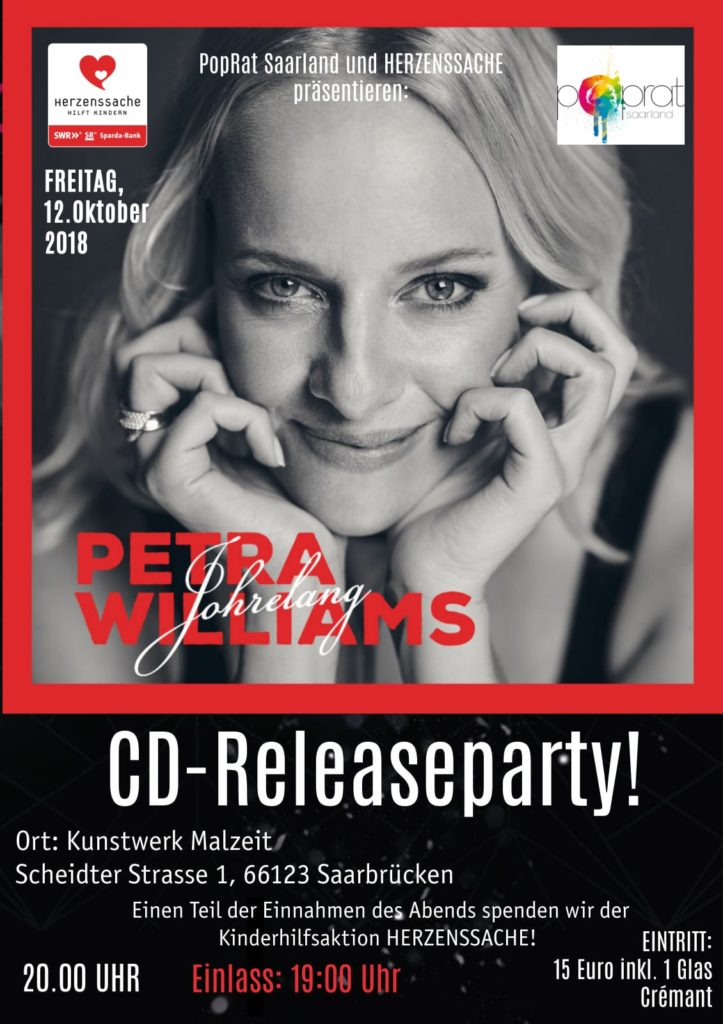 "Petra Williams: Release-Party ""Johrelang"" am 12.10.2018 im Kunstwerk Malzeit"