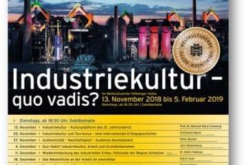 """Ringvorlesung """"Industriekultur - quo vadis?"""" am Weltkulturerbe Völklinger Hütte"""