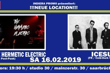 Viertes Schaufenster-Konzert am 16.02.2019 mit Icesun und The Hermetic Electric