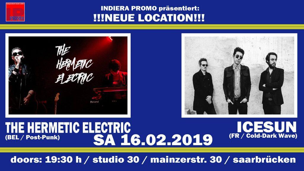 Viertes Schaufenster-Konzert am 16.02.2019 mit Icesun und The Hermetic Electric