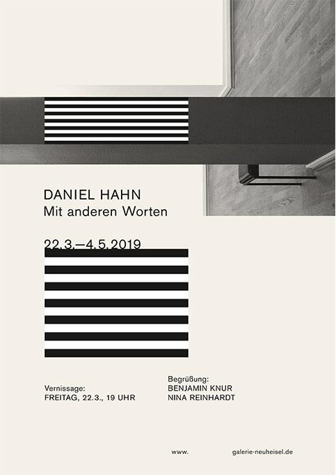 """Daniel Hahn Ausstellung """"Mit anderen Worten"""" in der Galerie Neuheisel"""