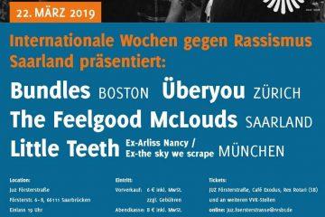 Internationale Wochen gegen Rassismus 2019: Konzert am 22. März im Jugendzentrum Försterstraße