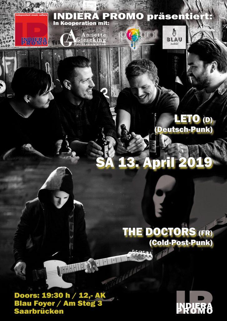 The Doctors & Leto im BLAU Saarbrücken am 13.04.2019