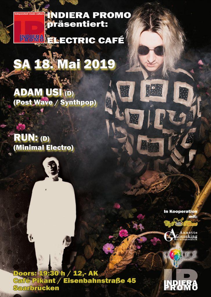 Adam Usi / Run: / Volker Schütz am 18.05.2019 im Café Pikant in Saarbrücken